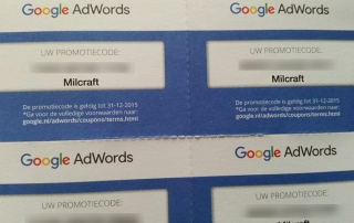 Adwords 150 euro tegoed bonnen