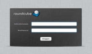 Roundcube webmail loginscherm