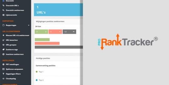 Pro Rank tracker - Nederlandse SEO software