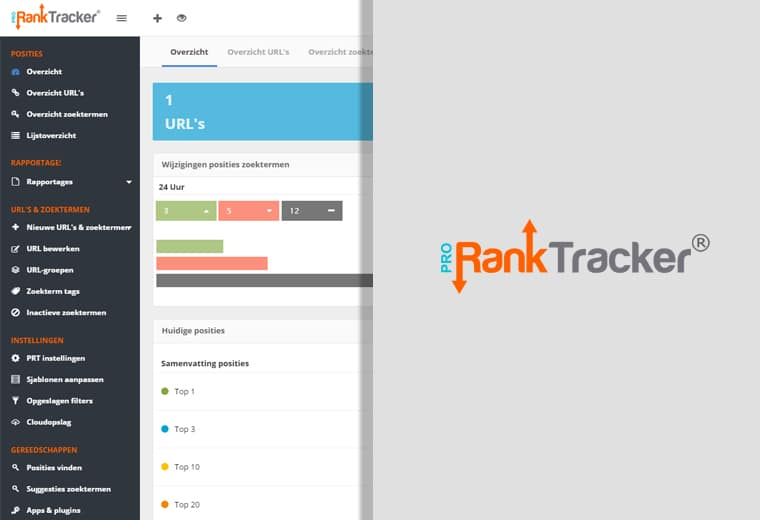 Pro Rank tracker - Nederlandse SEO software