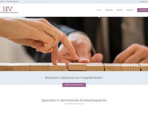 Website HJV Administratie & Belastingadvies staat live!