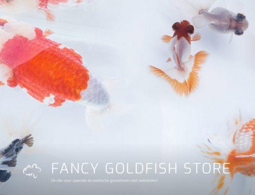 Sinds vandaag staat de nieuwe webwinkel van Fancy Goldfish Store online!