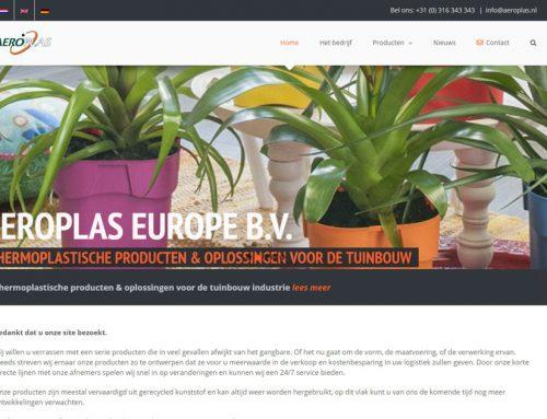 Nieuwe website voor Aeroplas