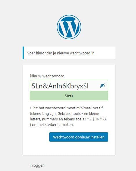 wachtwoord van wordpress herstellen