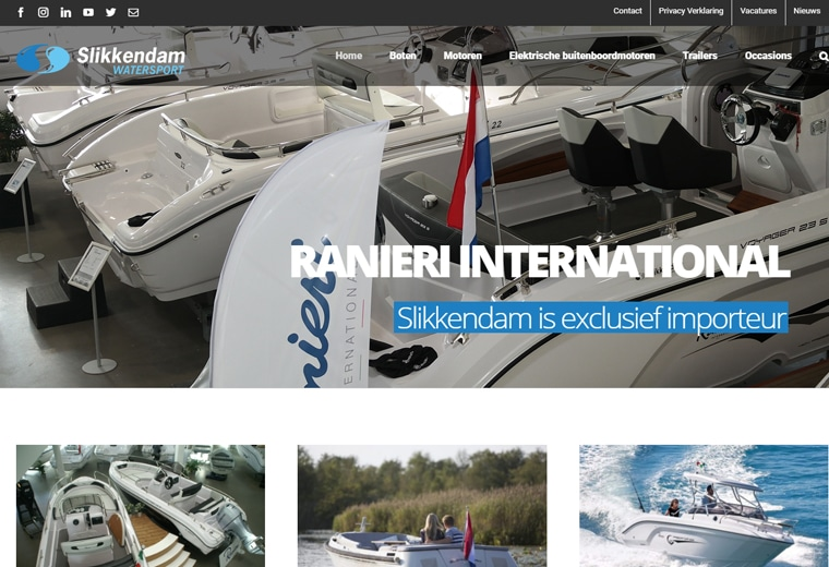 Slikkendam Watersport website
