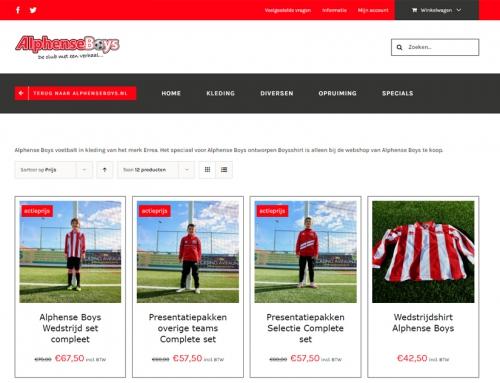 Nieuwe webshop voor Alphense Boys gelanceerd!